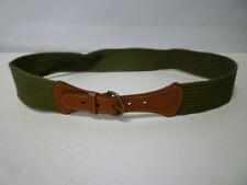 Designer Scapa Scotland Green & Brown Leather Belt - New  W 34 / UK 16