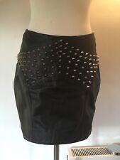 ONE TEASPOON Studded Leather Mini Skirt