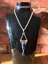 Antique 1909 Charles Horner Art Nouveau Silver & Enamel Pendant Necklace