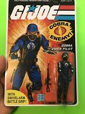 Black Major Gi Joe Cobra 1983 Cobra Viper Pilot Trooper Figure B Style Card
