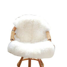 Sofa Bedroom Soft Fluffy Wool Sheepskin Mat Washable Rug Floor Carpet Blanket