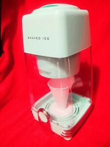 Nostalgia Electrics Electric Shaved Ice and Snow Cone Maker Aqua / Turquoise NIB