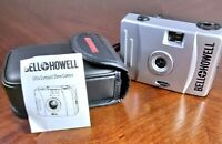 Vintage Bell + Howell Ultra Compact 35mm Camera Focus Free F-28mm Lens w/ Case