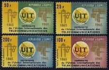 Guinea 380-381,C73-C74,MNH.Michel 298-301. ITU-100,1965.Communication Equipment.