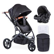 hauck Pacific 3 Shop N Drive Kombi-Kinderwagen mit Wanne und Autositz - Schwarz (309162)