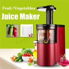 Juicer Slow Masticating Fruit Vegetable Machine Cold Press Juice Extractor