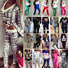 Womens Tracksuit Hoodie Sweatshirt Tops Pants Set Ladies Loungewear Jogging Suit