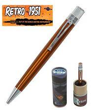 Retro 51 #VRR-1302 / Lacquered Orange Tornado Roller Ball Pen