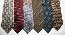 NEW Lot of 6 Designer Neck Ties with Patterns, Kenneth Cole and more L013