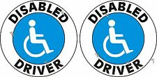 2 DISABLED DRIVER STICKERS FOR YOUR CAR OR ANYWARE CHEAPEST FREE P&P