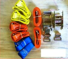 Spec Lift and Dolly Car Y shape Recovery Straps (Ratchets and flat hooks)