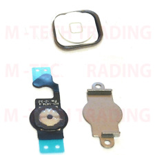 ORIGINAL FOR IPHONE 5 HOME FLEX & WHITE MENU HOME BUTTON WITH RUBBER SET PART