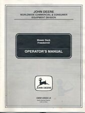 John Deere Freedom42 Mower Deck Operator's Manual Used