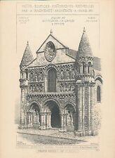 Eglise Notre-Dame La Grande à POITIERS 1898 - Raguenet Architecture - 50