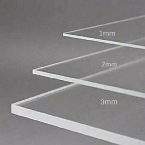 Transparent Perspex Acrylic Sheet Premium Square Cut To Size Window Safety Sheet