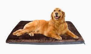 Cosipet High Density Foam Waterproof Mattress Brown Faux Fur Dog Bed