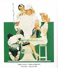 "Norman Rockwell print: ""GIVE ME THE FULL TREATMENT"" Barber Shop Spa Beauty Salon"