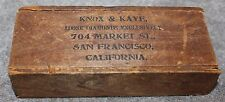 "19C Wood Advertising Jewelry Jewler Box Knox & Kaye ""Loose Diamonds Exclusively"""