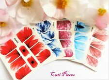 Nail Art Wraps Feathers Leaf Full Cover Polish Water Decal Sticker Manicure Tips