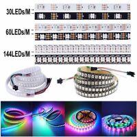 WS2812B 5050 RGB LED Strip Waterproof 1M 5M IC WS2812 Individual Addressable 5V