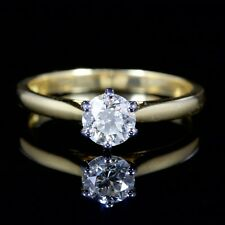 18Ct Gold Engagement Ring Vintage Diamond Solitaire Ring