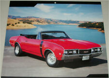 1968 Oldsmobile 442 W-30 Convertible car print (red, no top)