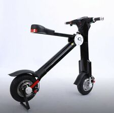 Q Bike.500w Folding Electric Bike eBike in Black or White Scooter Electric 10AH^