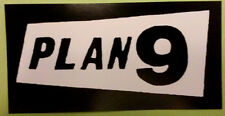 PLAN 9 STICKER - Vinyl HORROR punk rock - Misfits, Samhain, Glenn Danzig records