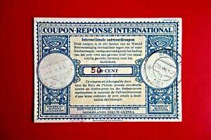 NETHERLAND N GUINEA :INTERNATIONAL REPLY COUPON 50c Ovpt.  BIAK & ARNHEM '61.