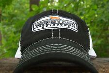 Muddy Dog Outdoors Logo Baseball Hat Mesh Cap in Black & White Duck Hunting