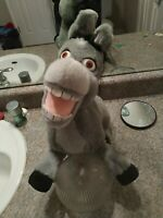 "2003 DREAMWORKS Universal Studios 17"" Tall Shrek Donkey Plush Stuffed Animal"