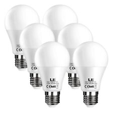 6 x LED E27 Edison Screw in Light Bulb, Frosted, 9W (60W) Equivalent Warm White