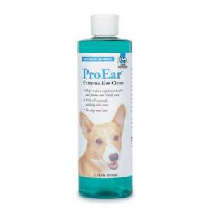ProEar Extreme Clean Dog Cat Grooming Healthy Ear Cleansing Flush Solution 12oz