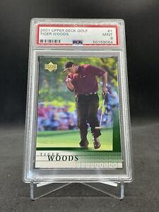 2001 Upper Deck Tiger Woods Rookie RC #1 PSA 9 MINT 🔥🔥🔥