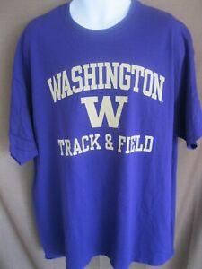 New Agenda Washington Huskies Track & Field Shirt sz 2XL