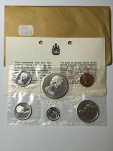1965 SILVER 1.11oz ASW PROOF-LIKE CANADA 6 COIN SET MINT SEALED AS IS