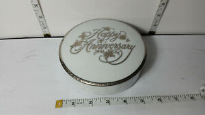 Mikasa Fine China Happy Anniversary with Silver Trim and Lid