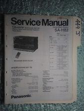 Technics sa-h82 service manual original repair book stereo radio music system