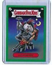 2020 GARBAGE PAIL KIDS BIZARRE HOLIDAYS GOTH GRADY CARD 18b  GREEN PARALLEL