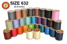 Fil au Chinois No.632 Waxed Lin Cable Leathercraft Linen sewing Thread 0.51mm