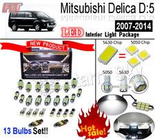 13pcs For Mitsubishi Delica D:5 2007-2014 (NO Sunroof)  White 5630 LED Light Kit