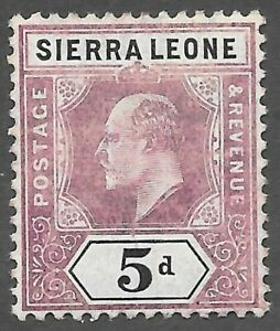 Sierra Leone (1904) - Scott # 84,   MH