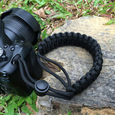 Braided Adjustable 550 Wrist Bracelet Strap Hand Grip Camera DSLR Black