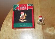 Hallmark Ornament Buck A Roo 1992 Santa on Reindeer Rocking Horse