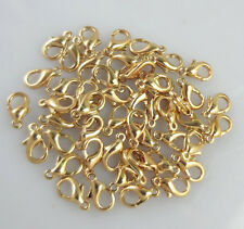 Hot 50pcs Pear Lobster Clasp Connector Ring End Hook Buckle Jewelry Findings