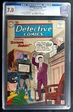 Detective Comics #281 CGC 7.0  Death of Batman July 1960