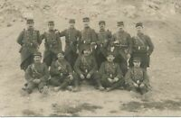 Twelve Soldiers Real Photo Postcard rppc