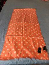 Women Lauren Ralph lauren peach polkadot silk scarf rectangle M50