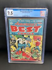 America's Best Comics #11 CGC 2.5 (Nedor 1944) WWII Golden Age Schomburg Tojo