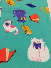 Nwt Cat & Jack Xxl 18 Reading Cats Print Full Length Leggings